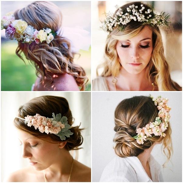 Exquisito peinados con diademas en la frente Imagen de cortes de pelo Ideas - Tendencia entrante: Diademas de flores