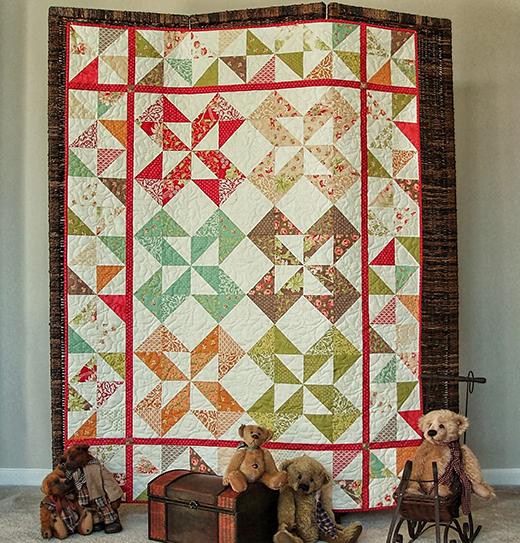 Honeysweet Pinwheel Quilt Free Tutorial