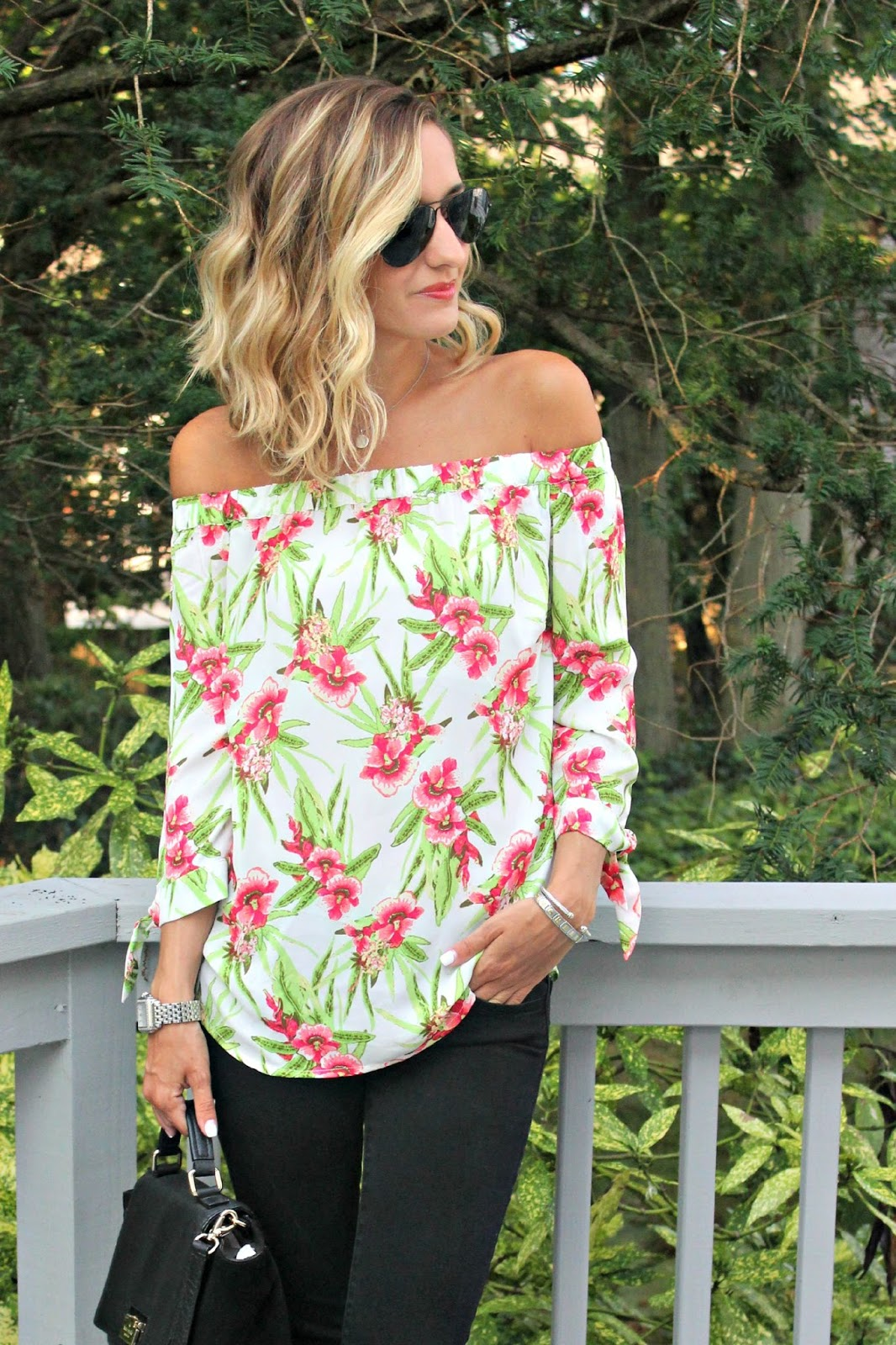 off the shoulder eshakti top