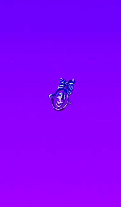 Skull ornament purple