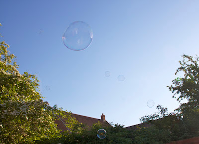 Bubbles against a blue sky, did you know it's not easy to photograph a bubble? The little cheeky buggers keep on moving and then they go and explode and you've missed a photo opportunity just like that