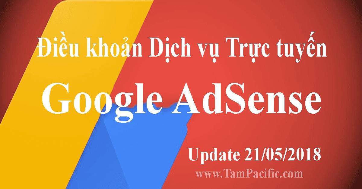 Điều khoản Dịch vụ Trực tuyến Google AdSense