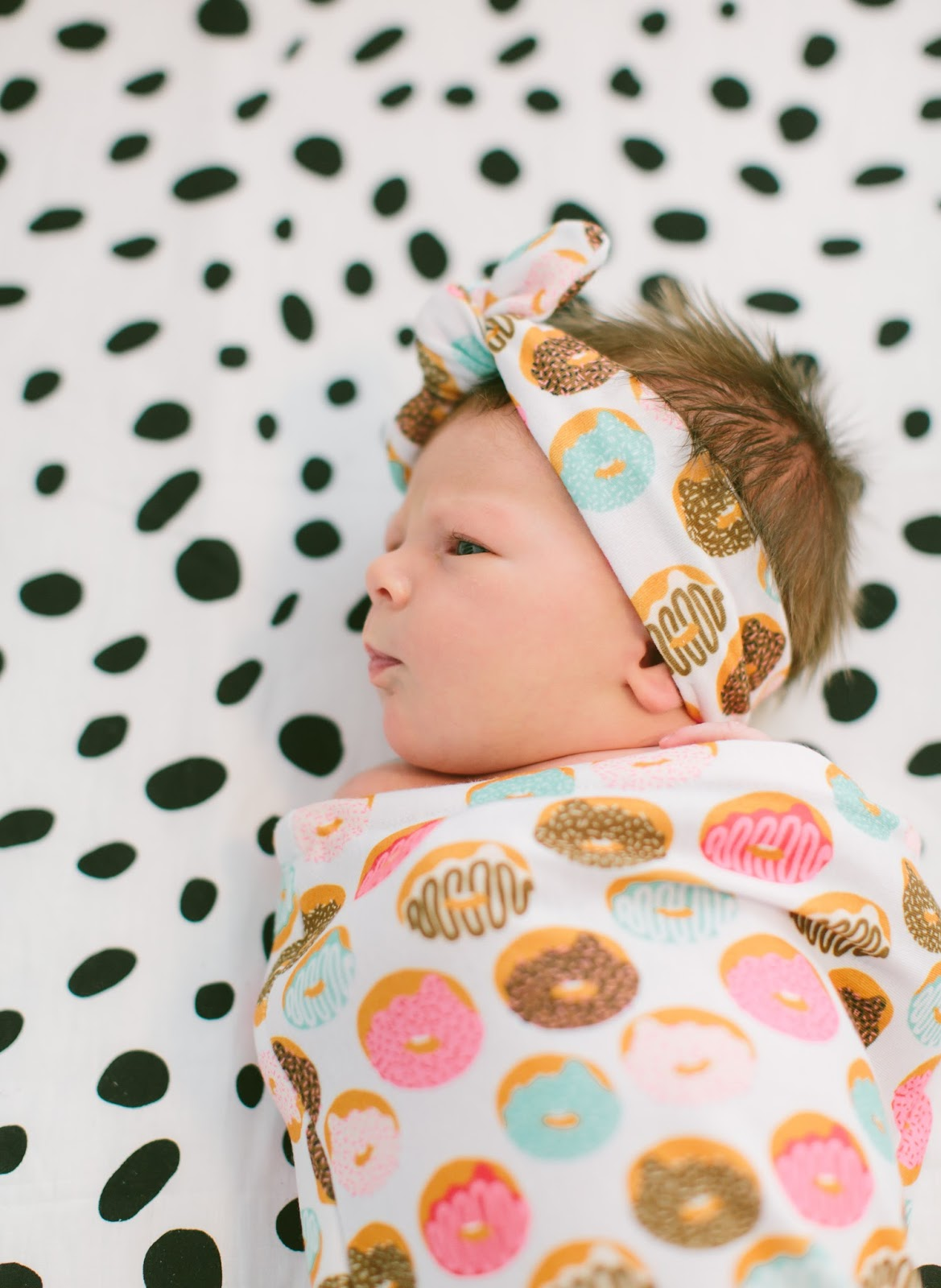 Doughnut Swaddle Set, Mint & Arrow, Baby Must Haves