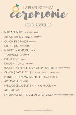 musiques classiques pour cérémonies