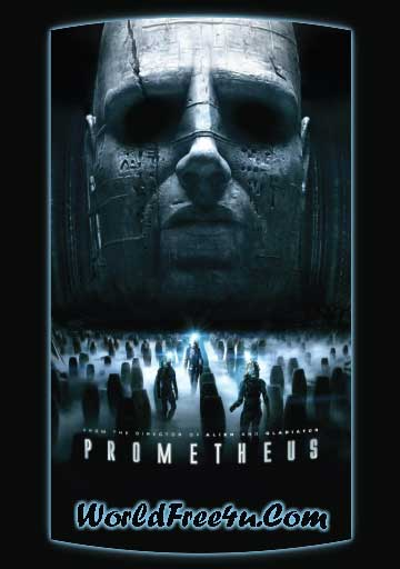 Poster Of Prometheus (2012) In Hindi English Dual Audio 300MB Compressed Small Size Pc Movie Free Download Only At worldfree4u.com