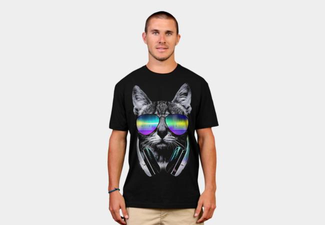 http://www.designbyhumans.com/shop/t-shirt/men/music-lover-cat-v-ii/70232/