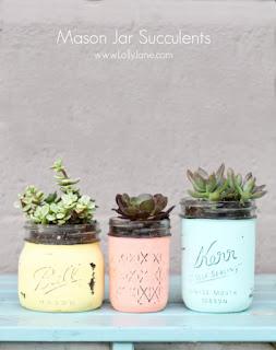 tutorial diy mason jar succulent planters