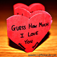 valentines day craft ideas for kids:  guess how much i love you heart book