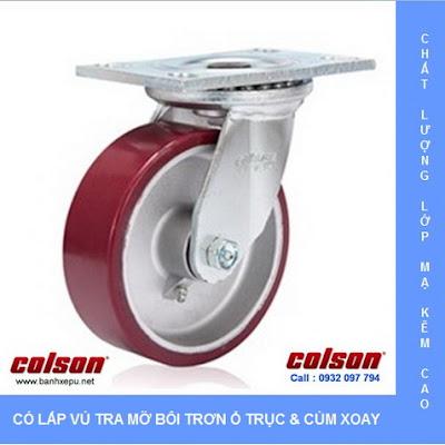 Bánh xe xoay công nghiệp PU Colson chịu lực 540kg 6 inch | 6-6209-939 banhxedayhang.net