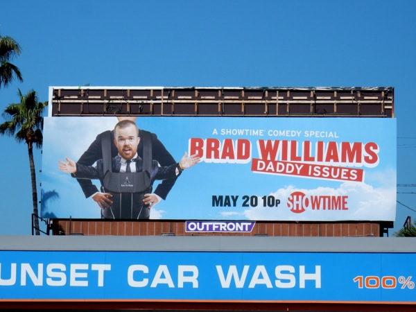 Brad Williams Daddy Issues comedy special billboard