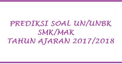 Soal UN Matematika SMK 2018 Semua Paket Keahlian
