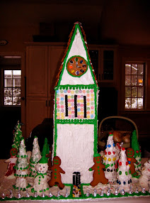 The Cornell Clock Tower in gingerbread