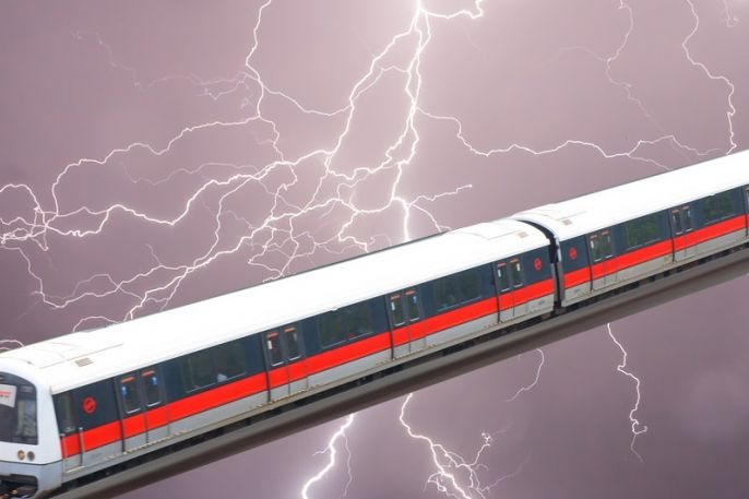 Services along North-South Line disrupted when lightning strike cripples SMRT train