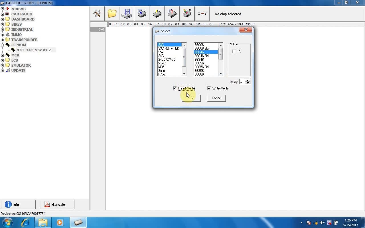 User manual crs software