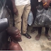 Alleged hired assassin is caught trying to strangle a boutique owner and is stripped n@ked before police rescue him from getting burnt alive in Lagos