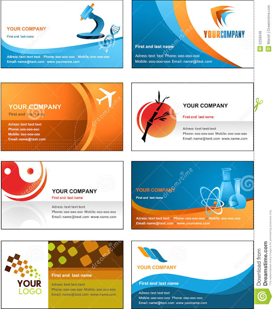 Business Card Template Design  Vector File