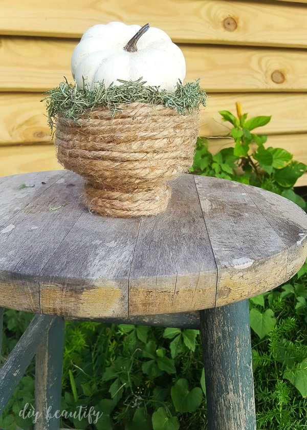 rope bowl, perfect for Fall!