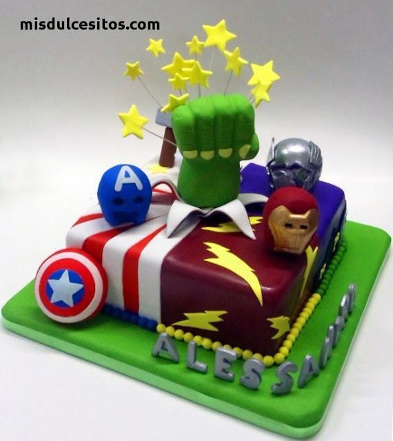 Tortas Avengers en Lima. Venta de tortas personalizadas en Lima