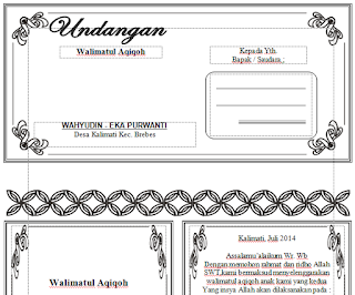 Download Undangan Walimatul Aqiqoh Word
