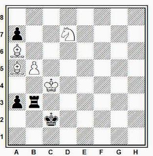 Estudio artístico de ajedrez compuesto por G. M. Kasparyan (Szachy, 2ª mención de honor, 1985)