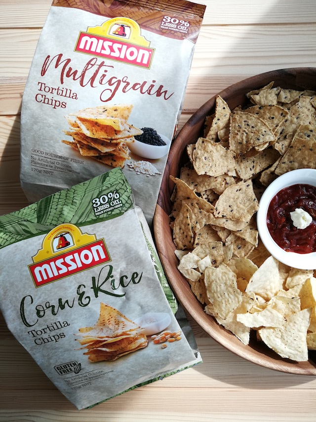 Fun Healthy Snacks with Mission's Multigrain & Corn and Rice Chips