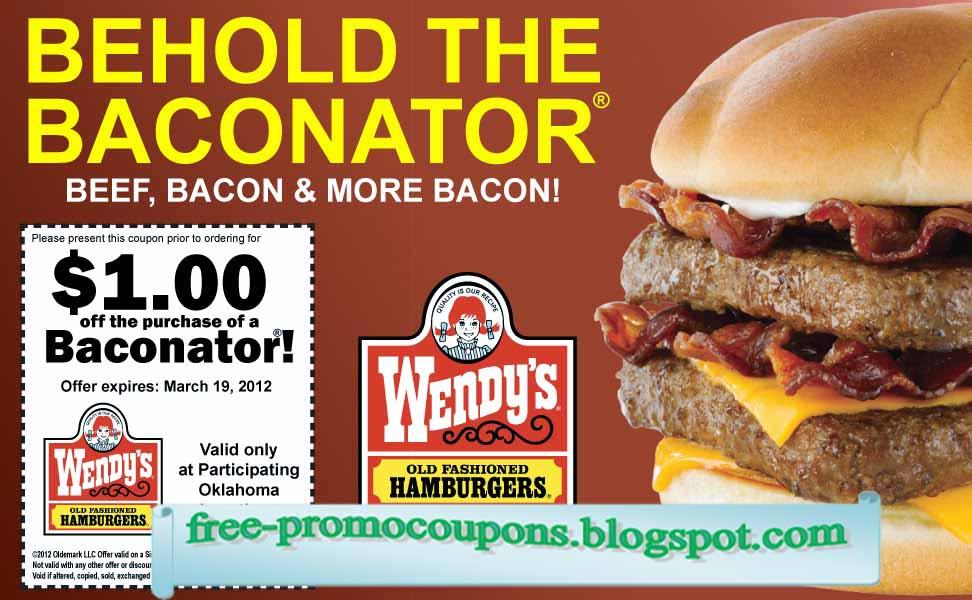 Wendy's hamburger coupons
