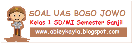 Soal UAS Bahasa Jawa Kelas 1 SD Semester 1 Ganjil Terbaru (25 Soal)