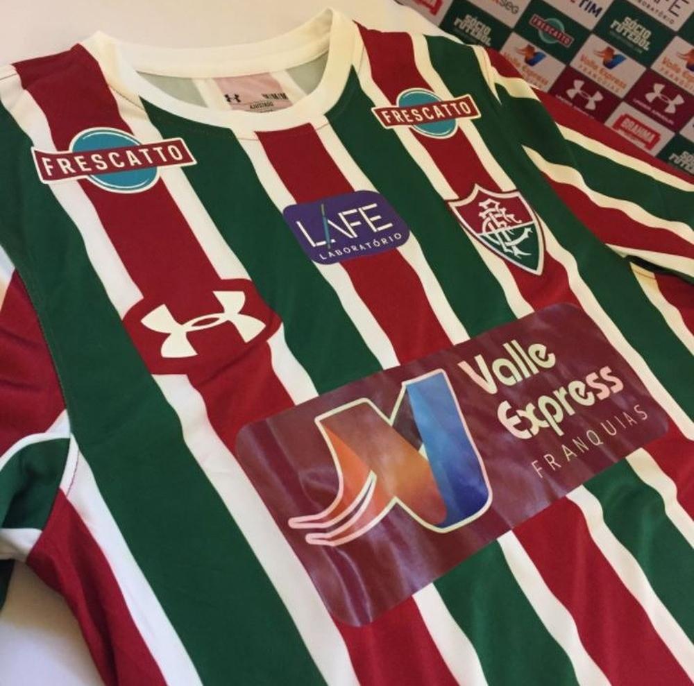 Fluminense apresenta novo patrocinador master em sua camisa - Show ... 42ec30fbf177a