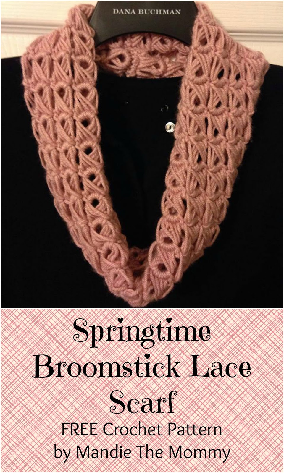 Springtime Broomstick Lace Scarf - Free Pattern