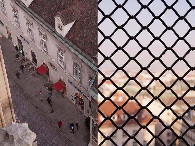 Ausblick vom Stephansdom auf Wien