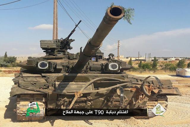 Milisi Syria Rebut Tank T-90S Tercanggih Rusia