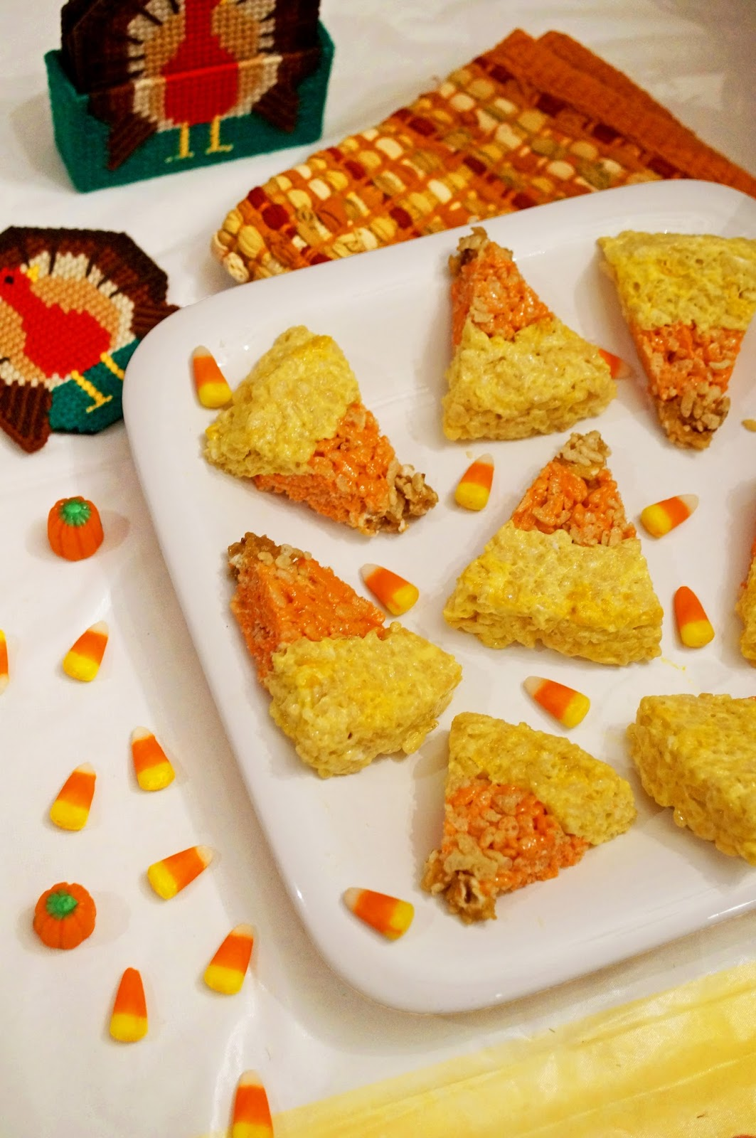 Candy Corn Rice Krispies Recipe