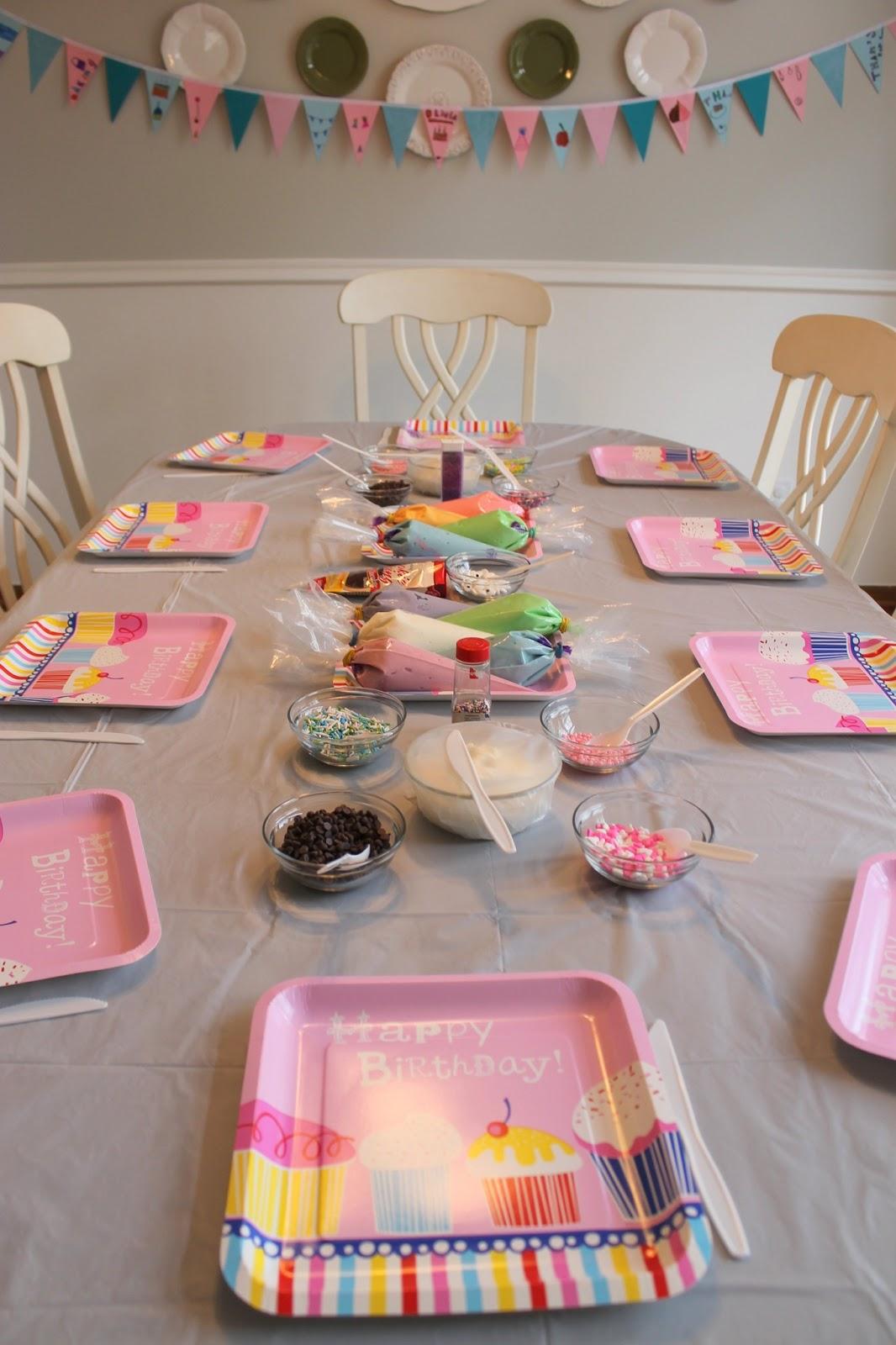 Serving Pink Lemonade Baking Birthday Party