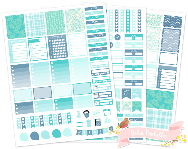 Free Printable Planner Stickers Weekly Kit For Erin Condren Life