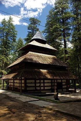 Hidimba temple at Manali, Himachal Pradesh
