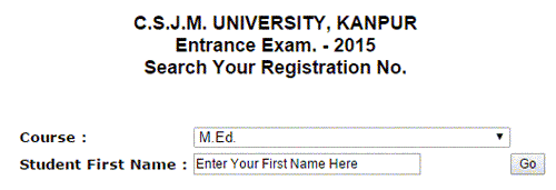 CSJMU Kanpur Entrance Admit Card 2015
