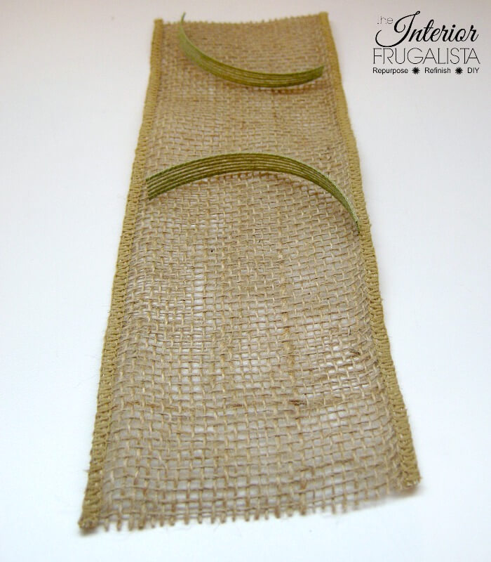 Spring Burlap Ribbon Cutlery Holders With Jute Trim