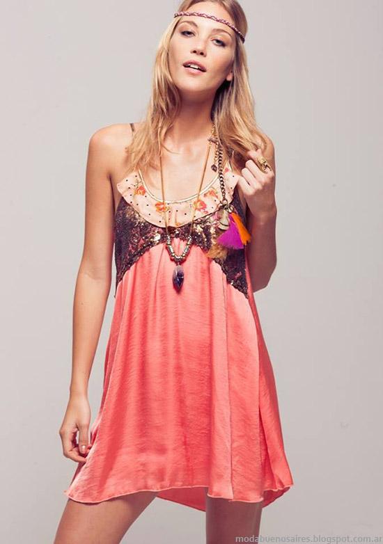 Vestidos de fiesta verano Silvina Ledesma. Moda 2015.