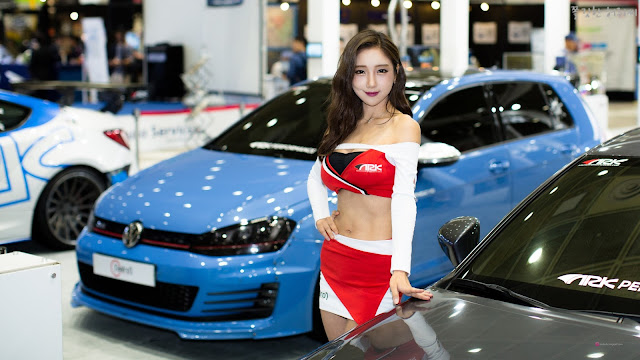 1 Mina -  Seoul Auto Salon - very cute asian girl-girlcute4u.blogspot.com