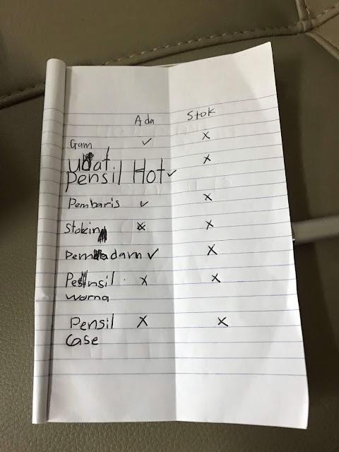 Senarai Beli Barang Keperluan Sekolah