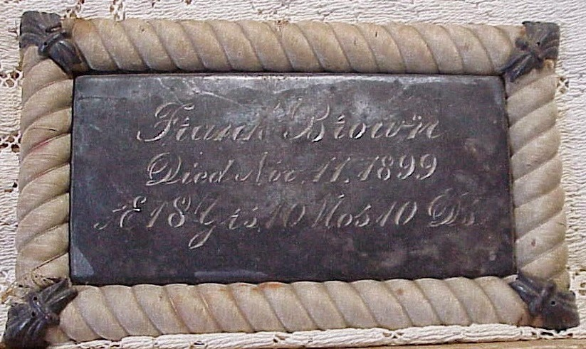 Coffin Plete Of Frank Brown