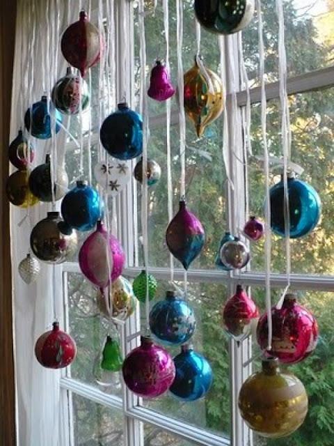 Decoración con bolas de Navidad
