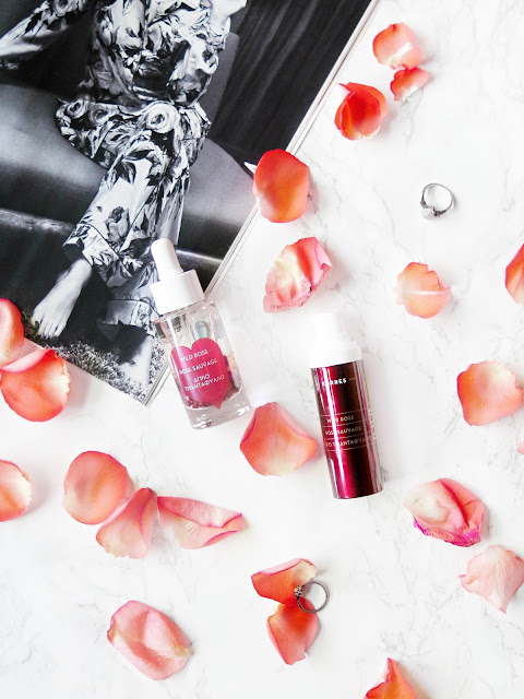 Roses Are Red   Wild Rose Infused Skincare With Korres   Brightening Vitamin C Oil & Targeted Tone Corrector Review & Swatches   labellesirene.ca