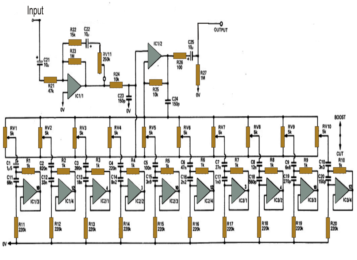 5 Band Graphic Equalizer Schematic Diagram Clipart Vector Design 120w Amplifier With Lm12 Circuitschematic 10 Get Free Image About Wiring Circuit Audio