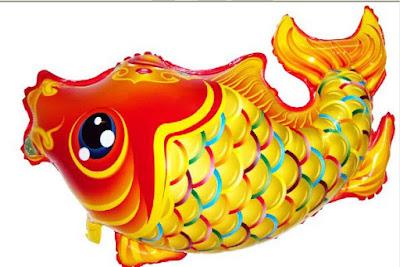 Balon Foil Karakter Ikan Mas Besar