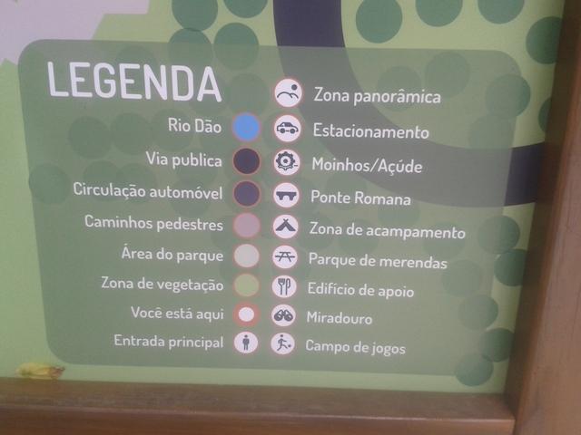 Legenda Zona de lazer de Ferreirós do Dão