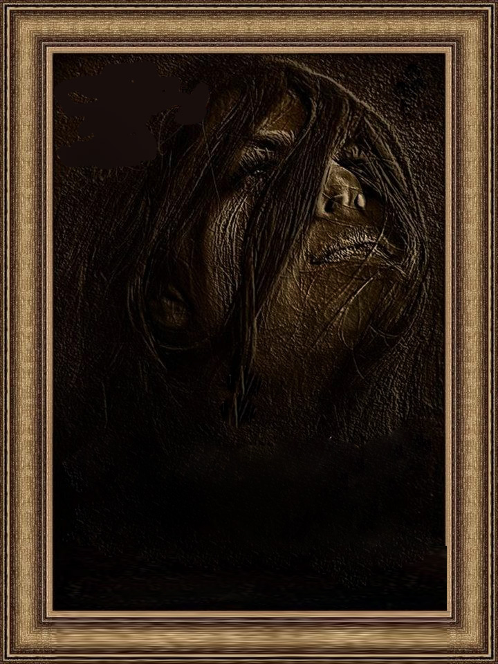 Black Frame With Sad Girl Pic For Urdu Shayari | Frames Collections