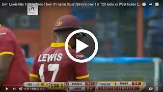Evin Lewis 5 sixes stuart binny video