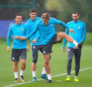 Chelsea training in Madrid