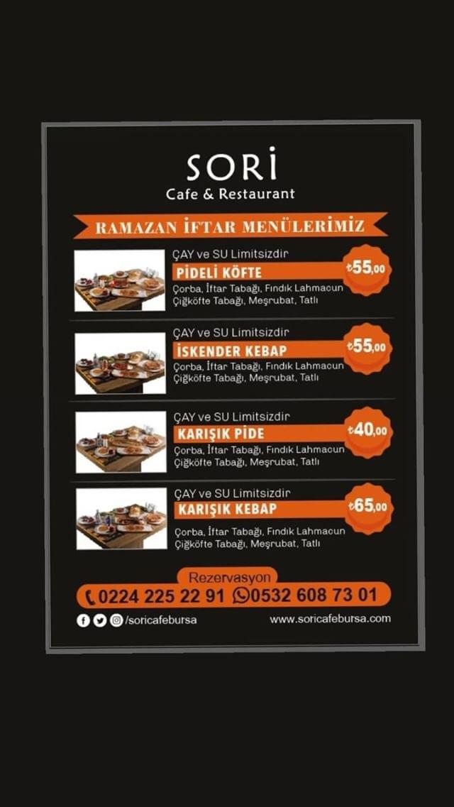 sori cafe restaurant iftar menüsü bursa iftar mekanları 2019 iftar mekanları bursa iftar menüleri 2019